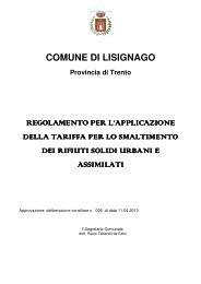 COMUNE DI LISIGNAGO