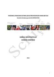 Ghidul Solicitantului - Condiţii generale 2013