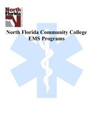 Paramedic Clinical Requirements - North Florida Community College
