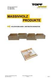 MASSIVHOLZ PRODUKTE - Johannes Topf Baubeschlag GmbH