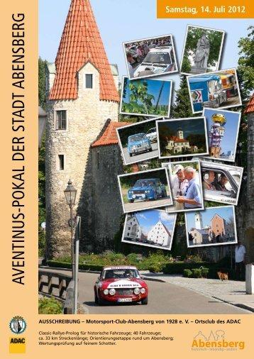 aventinus-pokal der stadt abensberg - Babonen Rallye Classic