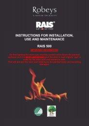 Rais 500 Installation, Use and Maintenance Manual - Robeys Ltd