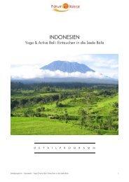 Detailprogramm Bali: Yoga & Active (.pdf) - Frosch Sportreisen