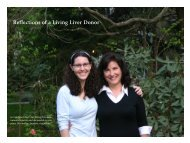 Reflections of a Living Liver Donor - New York Presbyterian Hospital