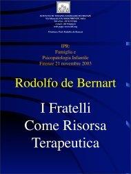 Nessun titolo diapositiva - Istituto di Terapia Familiare di Firenze