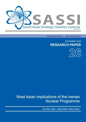 West Asian Implications of the Iranian Nuclear Programme