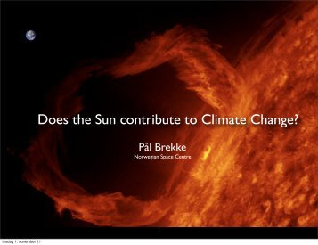 Does the Sun contribute to Climate Change?