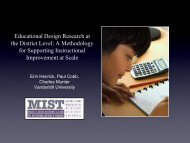 Educational Design Research at the District Level: A Methodology ...