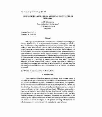 Immunomodulators from medicinal.pdf - Dl Sjp Ac Lk - University of ...