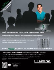 The Tapered Implant - Biomet 3i