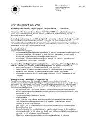 Minnesanteckningar från workshop om utbildning för pedsam & LLU