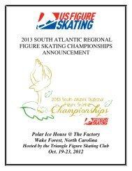 2013 South Atlantic Regional announcement - US Figure Skating