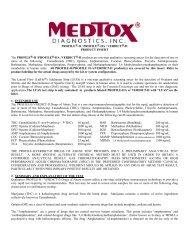 Package Insert Rev 12/05 - Medtox