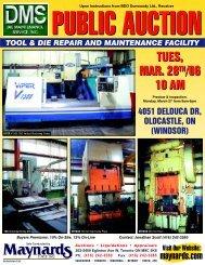 Die Maintenance Brochure - Maynards Industries