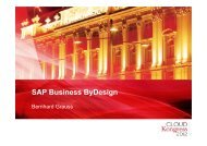 SAP Business ByDesign - CLOUDkongress