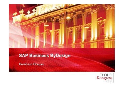 SAP Business ByDesign - CLOUDkongress