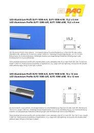 LED-Aluminium-Profil ELP1-1000-A/K, ELP1-1000-A/M, 15,2 x 6 mm ...