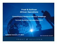 Complete African Research Plan for 2011. - Growth Consulting