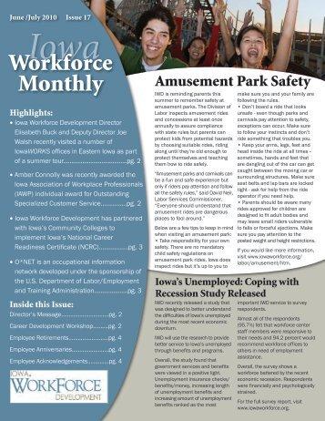 Iowa Workforce Monthly June/July 2010 Issue 17