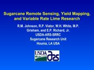Sugarcane Remote Sensing, Yield Mapping and Variable Rate Lime ...