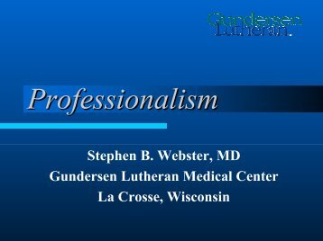 Professionalism - Healthcare Professionals