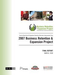 Business Retention and Expansion Final Report - City of Brantford
