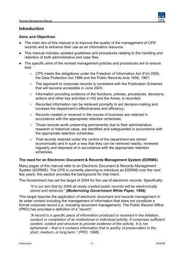 Records Management Manual PDF - Crown Prosecution Service