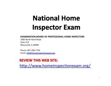 NHIbook3 - National Home Inspector Certification Council