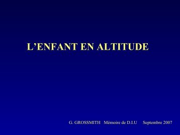 Enfant et Altitude - Secours-montagne.fr