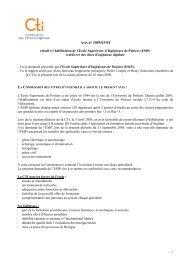 Avis ESIPoitiers - Commission des Titres d'Ingénieur
