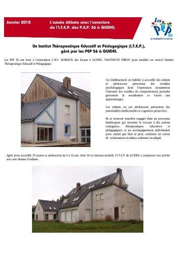 Un Institut Thérapeutique Educatif et Pédagogique (I.T.E.P. ... - PEP 56