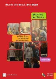 PROGRAMME SCOLAIRE secondaire2012-13 - Musée des beaux ...