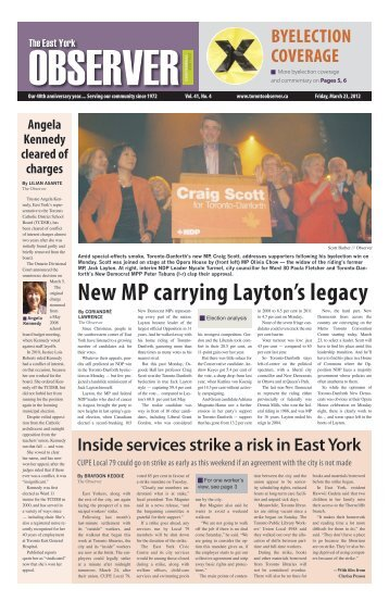 new MP carrying layton's legacy - The Toronto Observer