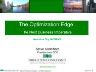 The Optimization Edge: - INFORMS NY