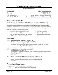 Curriculum Vitae - School of Engineering - Vanderbilt University