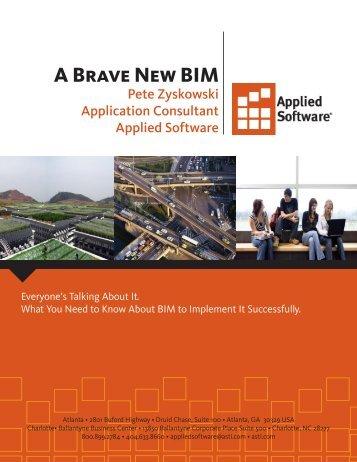 A Brave New BIM - Applied Software