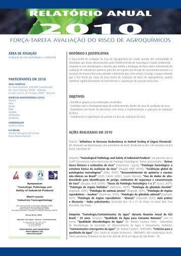RELATÓRIO ANUAL - International Life Sciences Institute