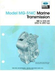 TWIN DISC MG514C Brochure.pdf - Gold Coast Power, Inc.