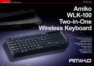 Amiko WLK-100 Two-in-One Wireless Keyboard - TELE-satellite ...