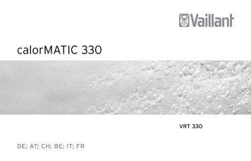 Installation calorMATIC VRT 330.pdf - Vaillant