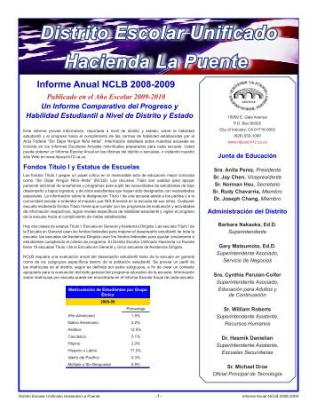 Distrito Escolar Unificado Hacienda La Puente - Axiomadvisors.net