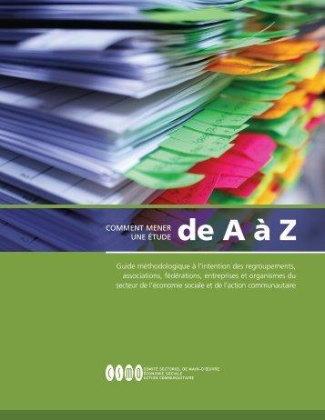 Comment mener une étude de A à Z - CSMO-ÉSAC