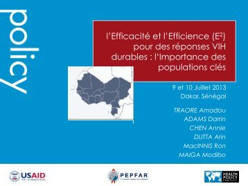l'Importance des populations clés - Health Policy Project