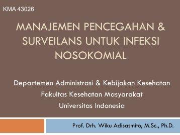 manajemen pencegahan & surveilans untuk infeksi nosokomial