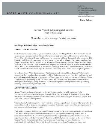 Bernar Venet: Monumental Works - Scott White Contemporary Art