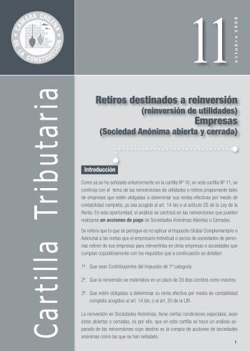 Retiros destinados a reinversión Empresas - Biblioteca - Cámara ...