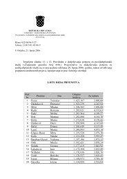 lista reda prvenstva za dodjeljivanje potpora za poslijediplomski studij