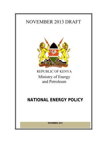 National Energy Policy - Final Draft - 14 Nov 2013