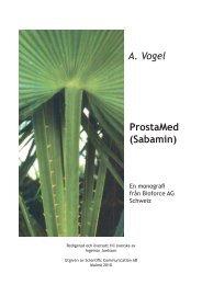 ProstaMed (Sabamin) A. Vogel - Scientific Communication AB