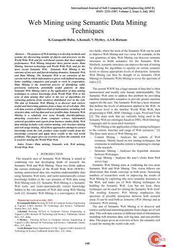 Web Mining using Semantic Data Mining Techniques - International ...